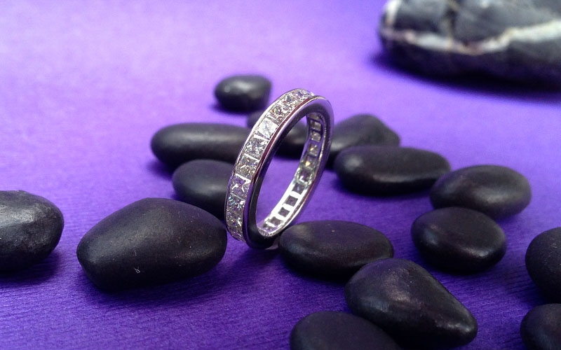 Channel Set Eternity Band Dallas