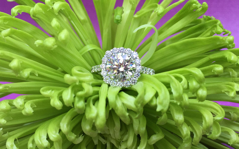 Halo Round Cut Engagement Ring