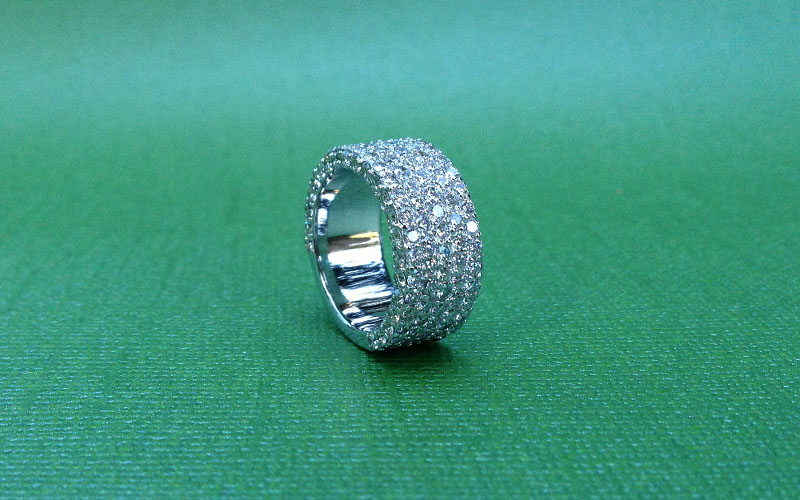 Pave Diamond Wedding Band