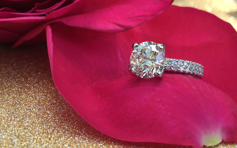 Pave Engagement Rings Dallas