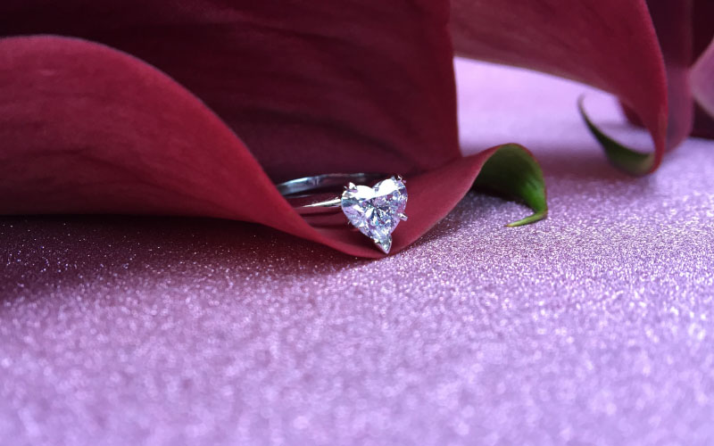Solitaire Engagement Ring Heart Shape