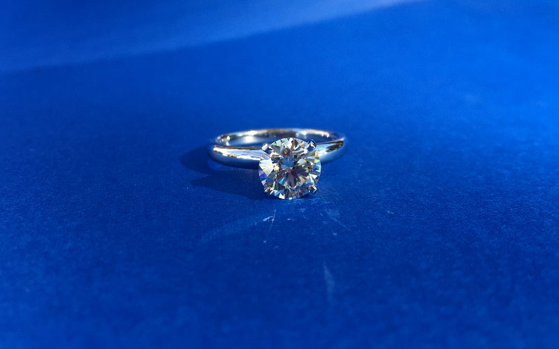 Solitaire Engagement Ring Round Cut