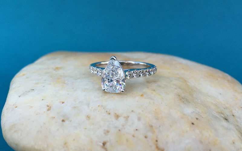 Classic Pear Shape Engagement Ring Dallas