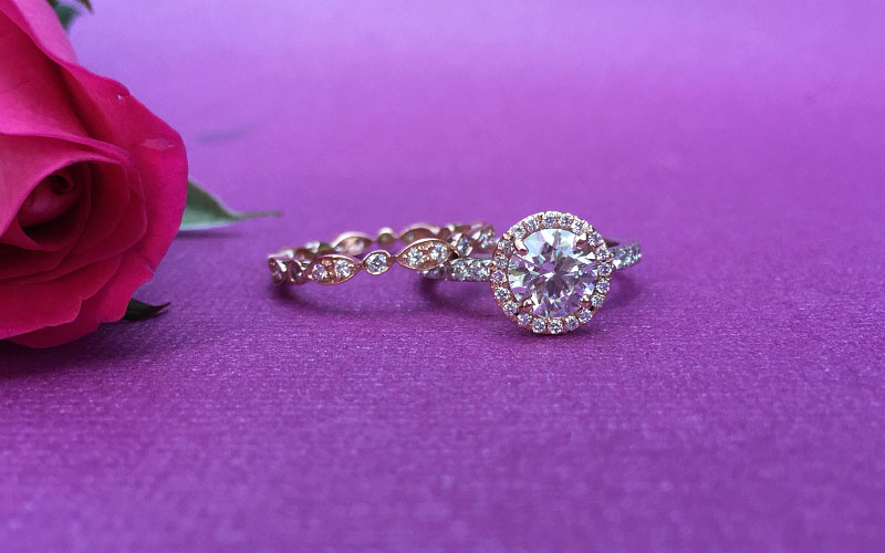 Vintage Halo Engagement Ring Dallas