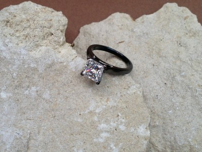 Black Gold Diamond Ring