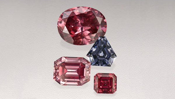 Blue And Pink Diamonds