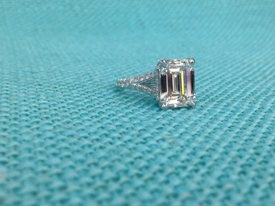 Dallas Emerald Cut Diamond Ring