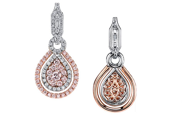 Fancy Pin Diamond Earrings Dallas