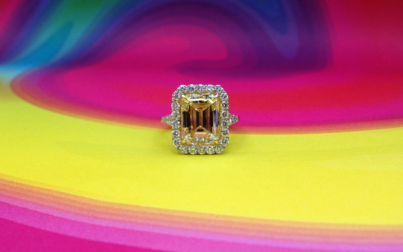 Fancy Yellow Colored Diamonds Dallas