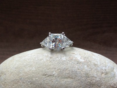 Princess Trillian Double Halo Diamond Ring Dallas