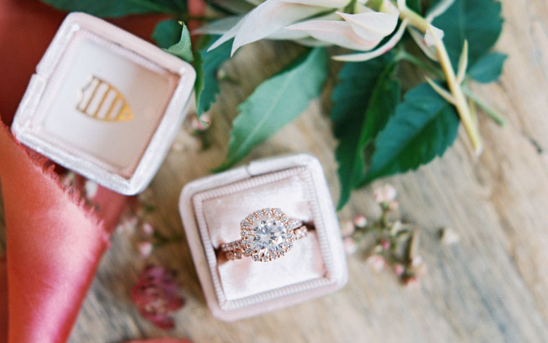 Rose Gold Halo Engagement Rings Dallas