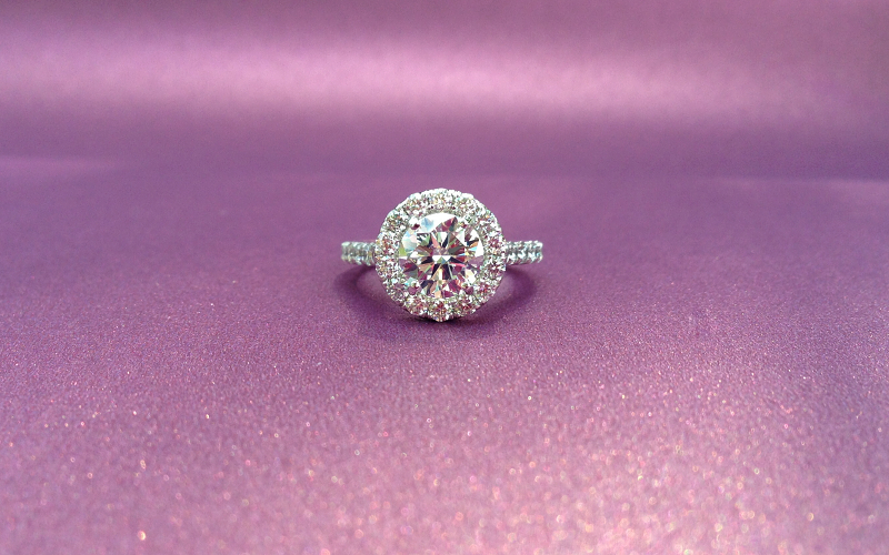 Round Halo Engagement Ring Dallas
