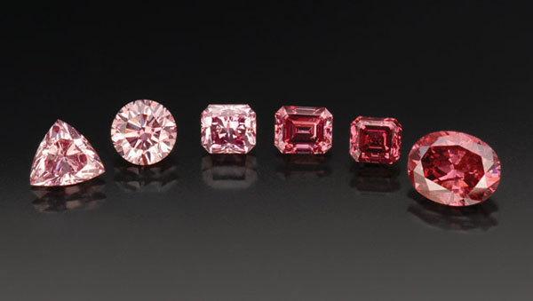 Shades of Pink Diamonds