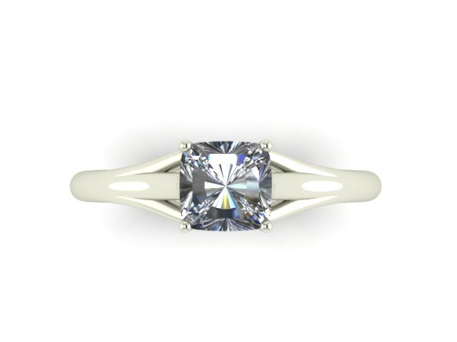 unique cushion cut solitaire engagement ring