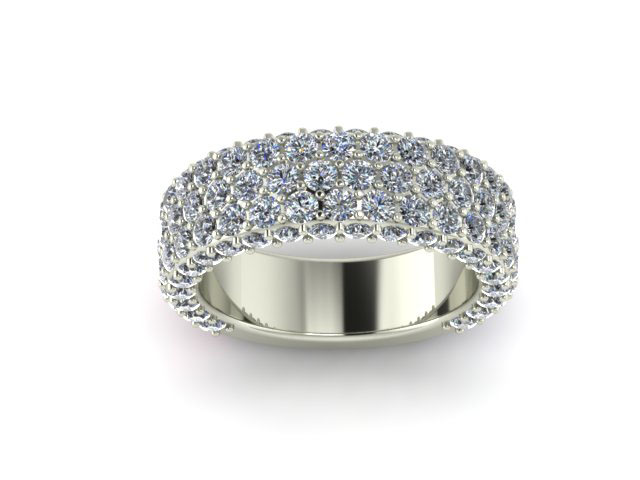 wide pave diamond wedding band shapiro diamonds