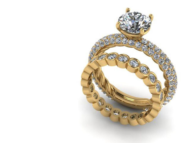 Yellow Gold Diamond Wedding Rings Dallas