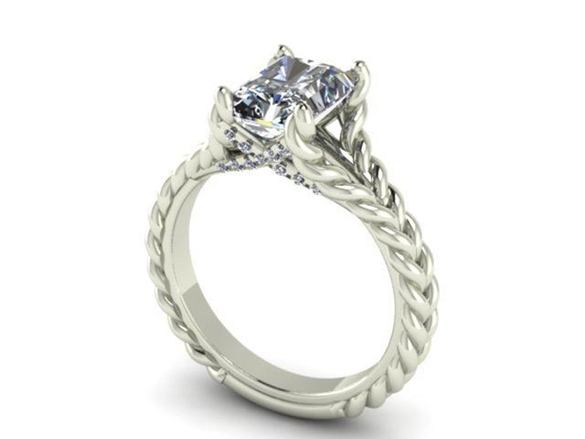 rope design engagement ring dallas shapiro diamonds