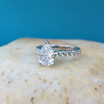 pear-shape-cathedral-diamond-ring dallas tx